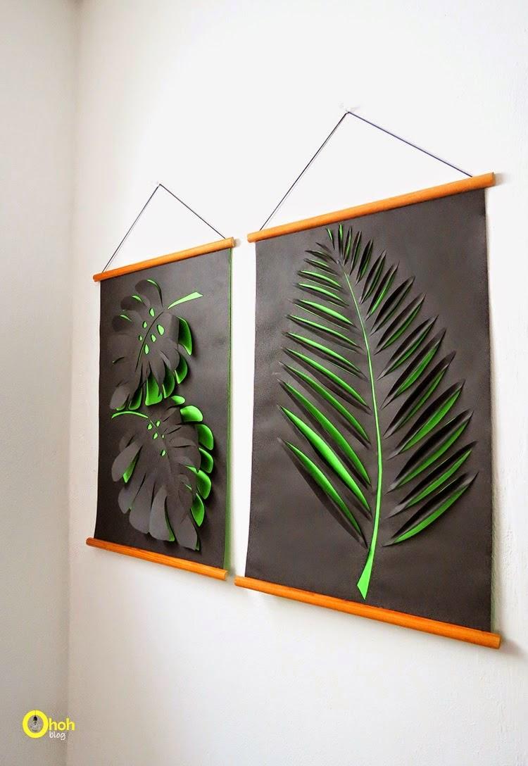 diy paper leaf wall art diy craft projects. Black Bedroom Furniture Sets. Home Design Ideas