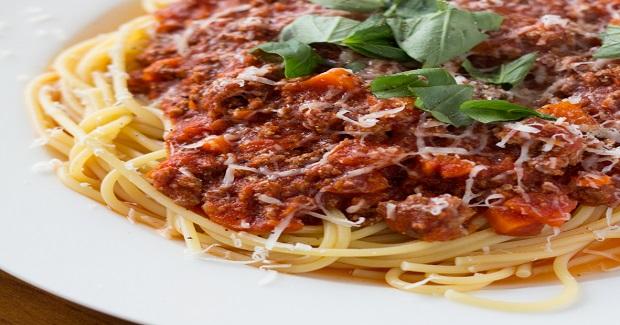 Spaghetti With Ground Beef Marinara Sauce Recipe