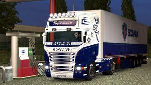 Blue & White pack paint for Scania RJL
