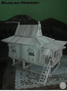 8 Desain Rumah Adat Dari Stik Es Krim