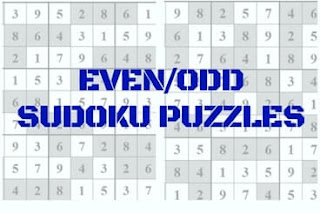 Even (Odd) Sudoku Variation puzzles