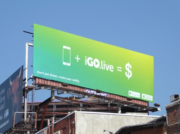 iGo Live billboard