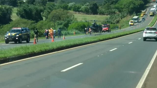 Motorista passa mal e atropela trabalhadores próximo ao pedágio em Mandaguari