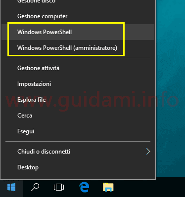 Windows 10 Creators Update menu Win+X Windows PowerShell