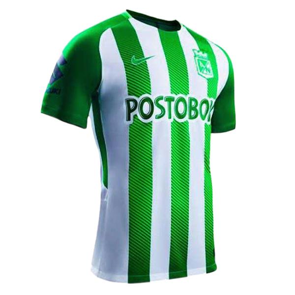 La camiseta de rayas verde y blanca fue usada por primera vez en una acción  por el equipo masculino del Atlético Nacional en una victoria por 1-0 sobre  ...