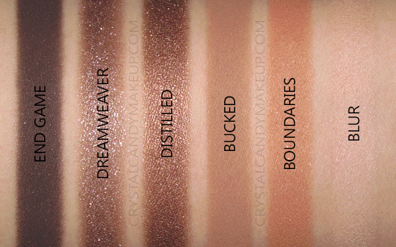 Palette Fards Naked Reloaded Urban Decay Swatches