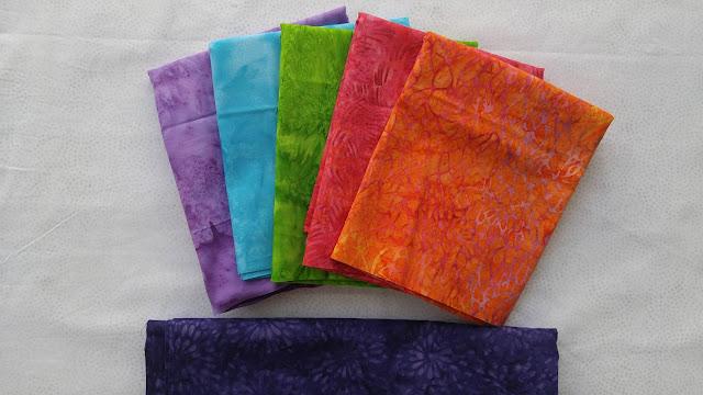 bright Island Batik fabrics