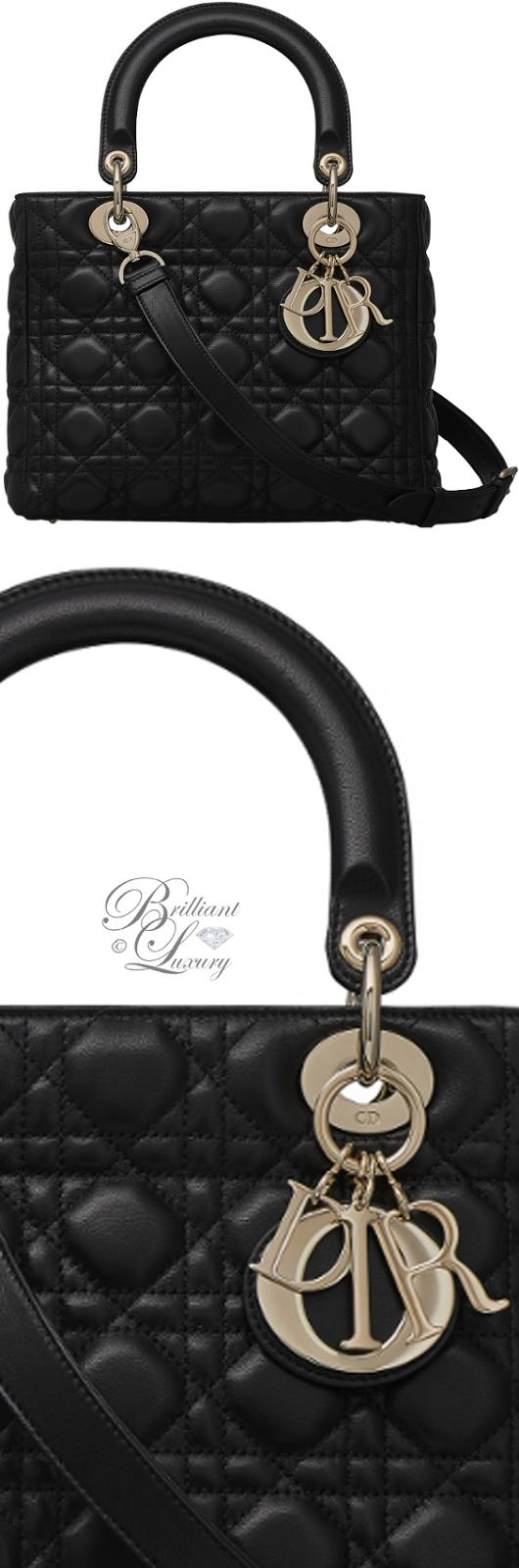 Brilliant Luxury ♦ Dior Lady Dior 'Black Lambskin' Bag