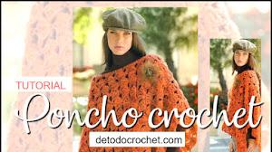 Poncho tejido a crochet para principiantes