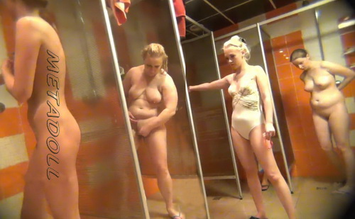 Shower Spy 357-368 (Hidden cam in shower room with many nude girls)
