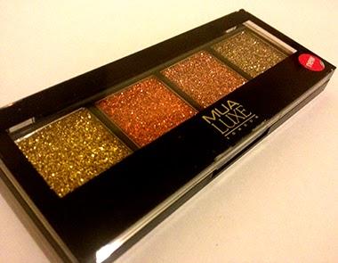 MUA Cosmetics Luxe Glitter Palette - Burlesque