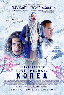 Poster Film Jilbab Traveler: Love Sparks In Korea