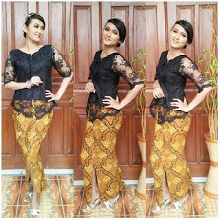 Kebaya Batik Winola Hitam