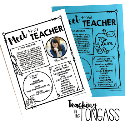 meet the teacher editable letter template