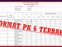 Aplikasi Format PK 6 Dengan Model Baru Sesuai Juknis