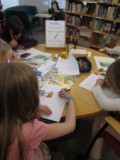 aktiviteter under världsbokdagen på hagaskolans bibliotek