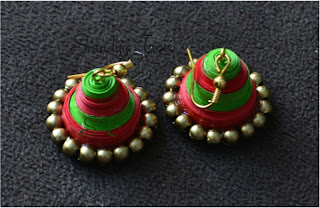 paper quill jhumka set
