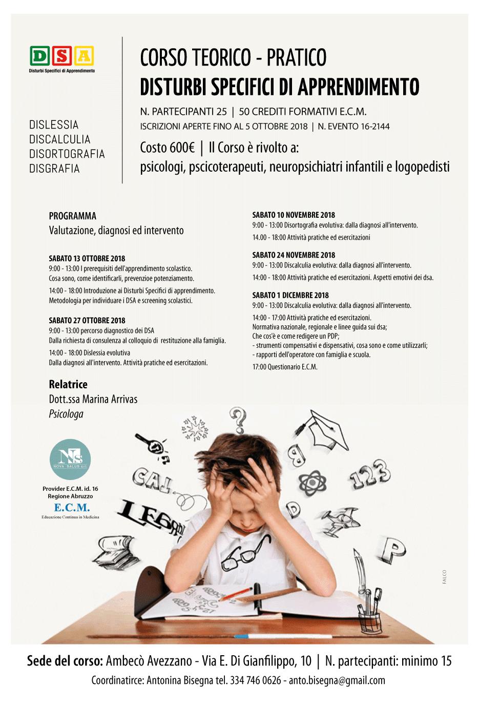 DSA - Distubi specifici di apprendimento