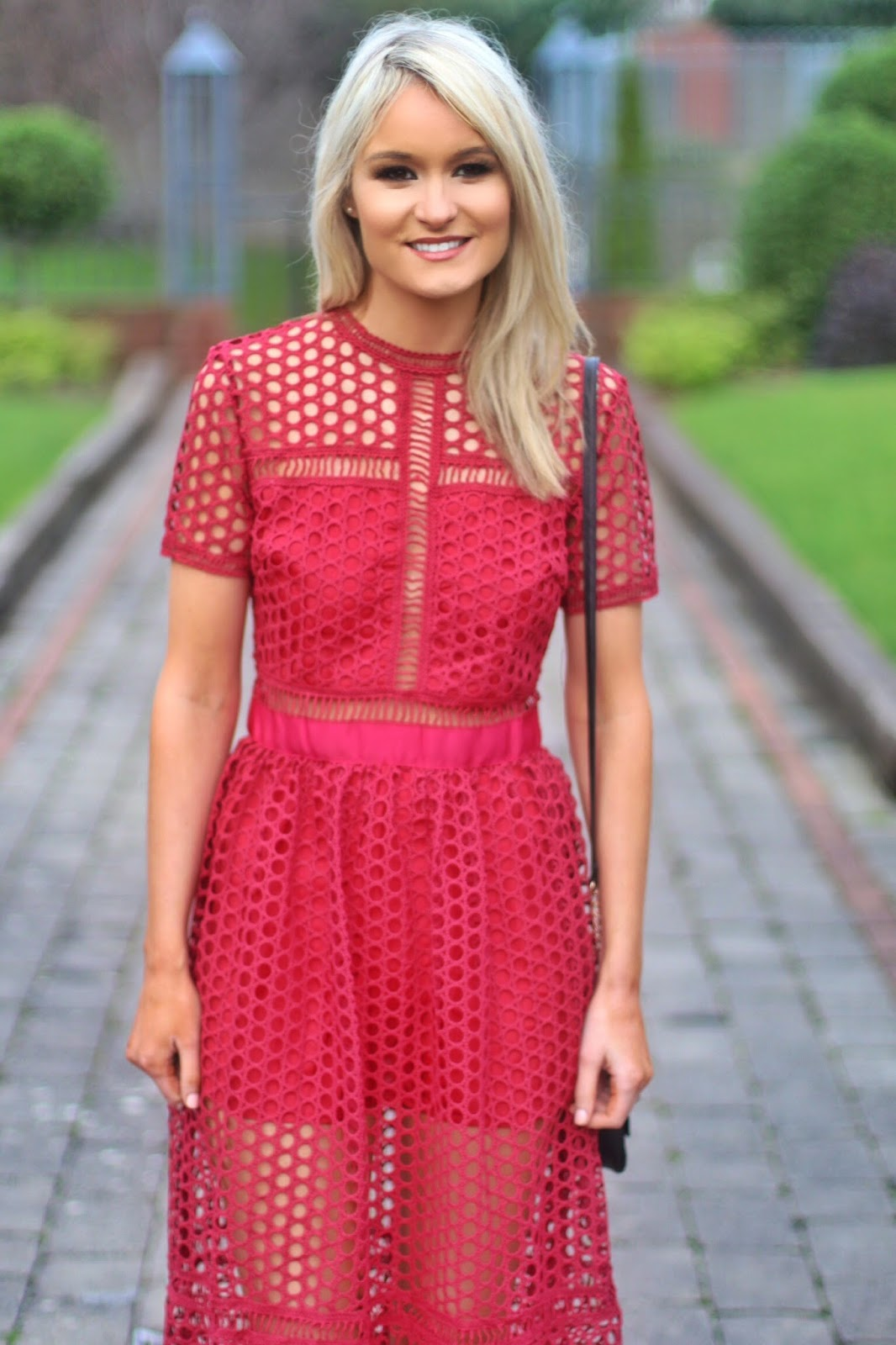 Red Self Portrait Inspired Dress Shein You Can Similar Here Black Sandals