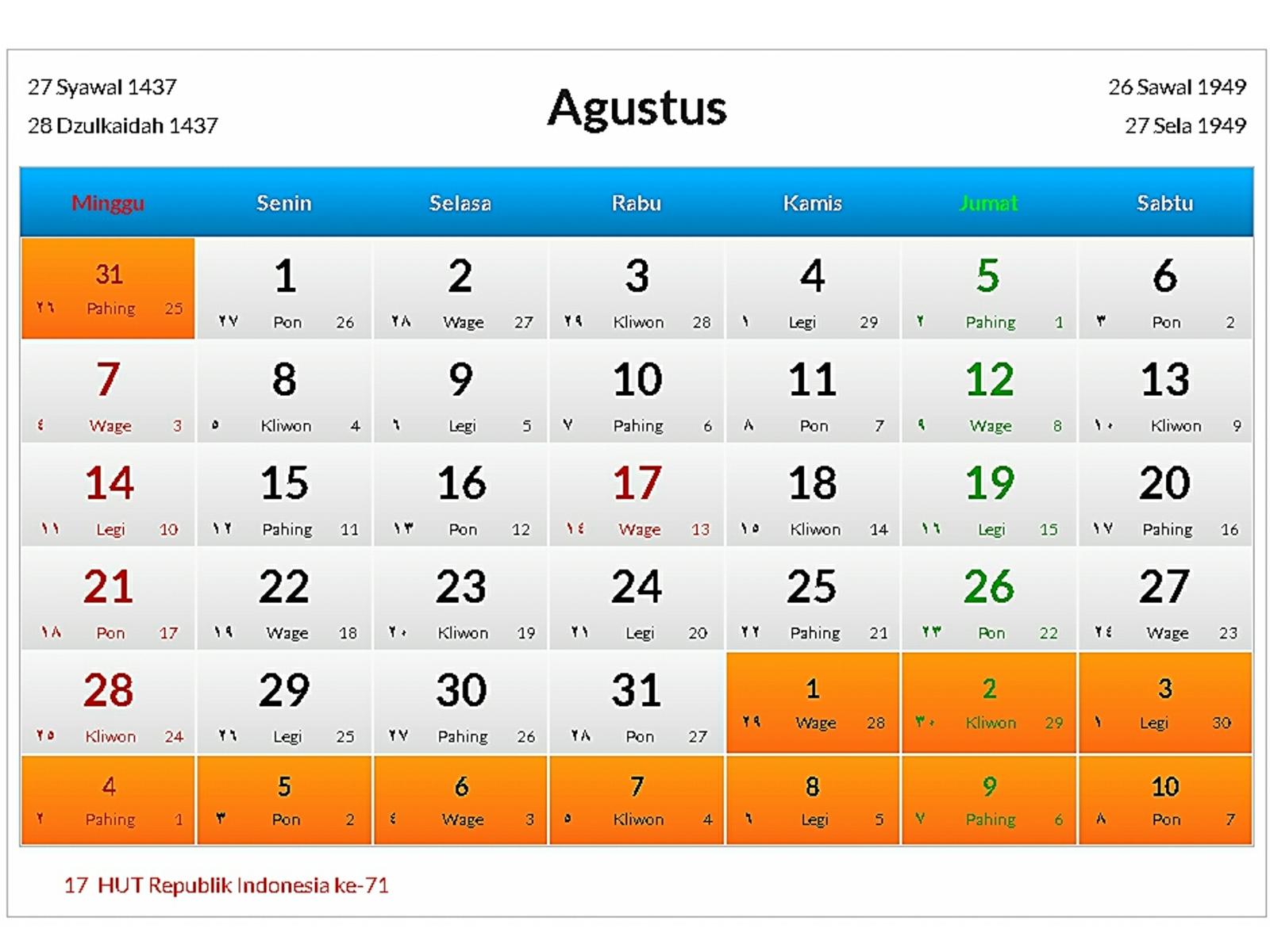 Jadwal Event Bandung Bulan Agustus 2016