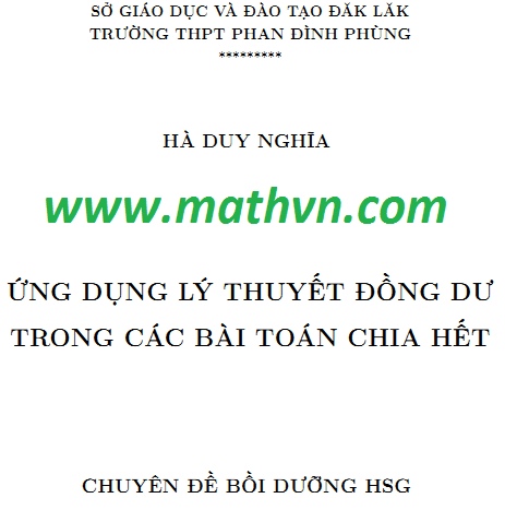 ung dung ly thuyet dong du trong cac bai toan chia het