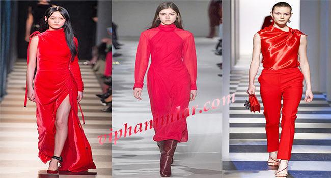 2017 - 2018 Kırmızı Modası