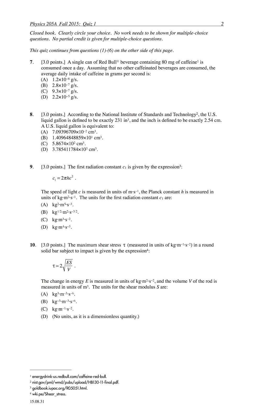 Printables Physics Dimensional Analysis Worksheet And Answers p dogs blog boring but important 201508 physics 205a quiz 1 fall semester 2015 cuesta college san luis obispo ca sections 70854 70855 73320 version exam code quiz01rdbl