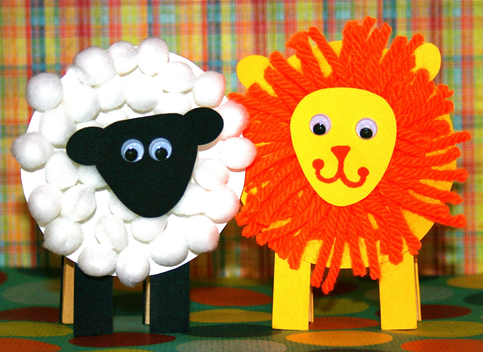 Smart-Bottom Enterprises: New Lion and Lamb Party Favor Kit