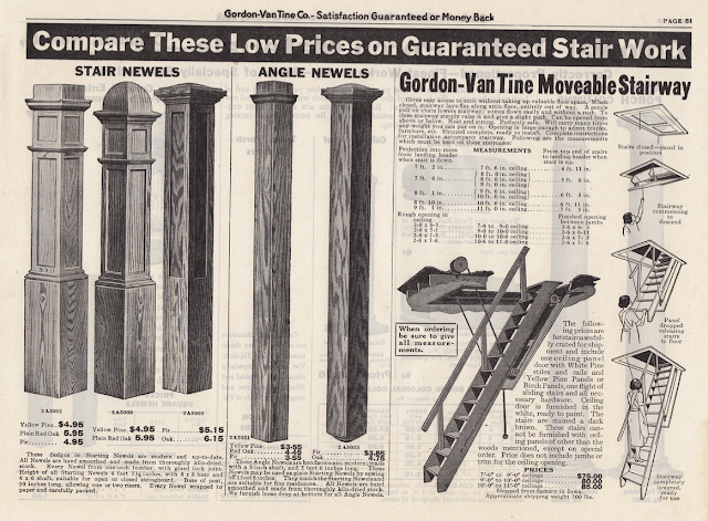 page from 1925 gordon van tine building materials catalog