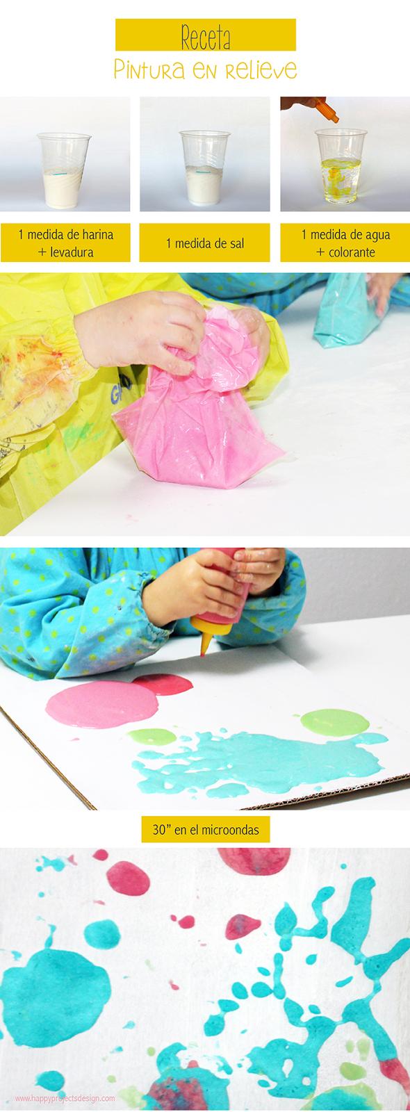 Receta Pintura en relieve: paso a paso