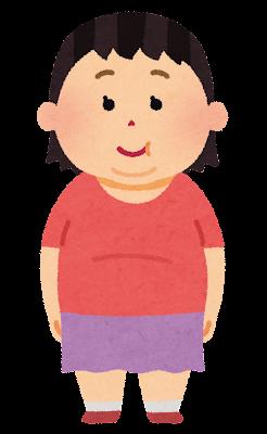 肥満体型の女の子のイラスト