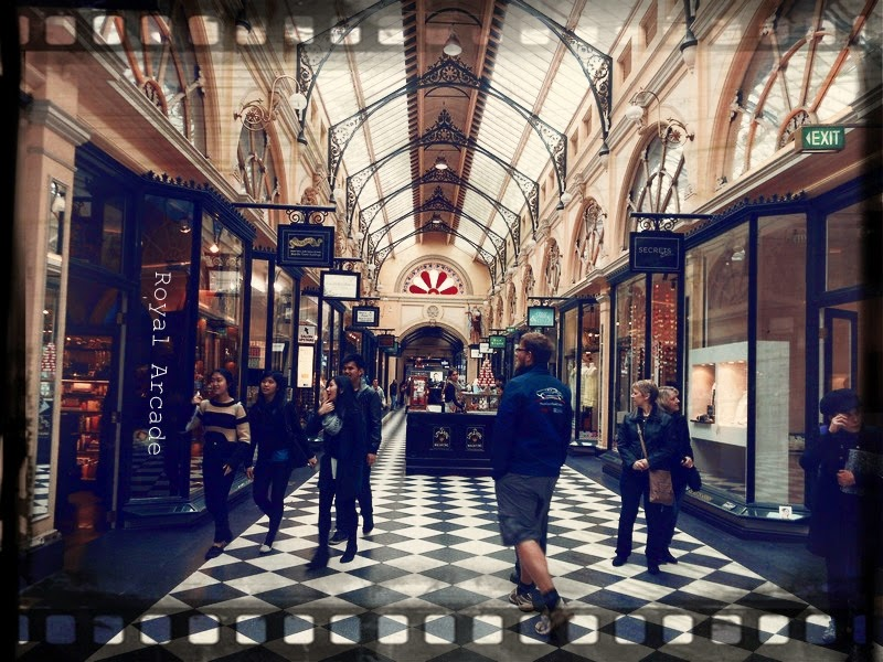 Melbourne's shopping precinct - Royal Arcade