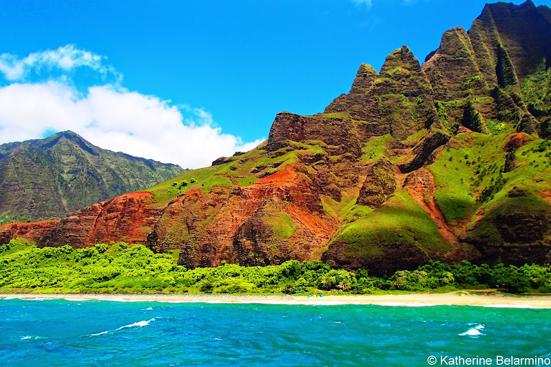 Na Pali Coast Napali Catamaran Kauai Hawaii