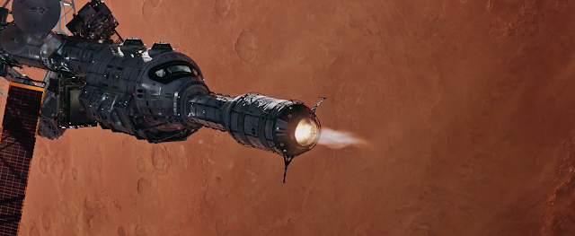 Spaceship image from The Martian movie