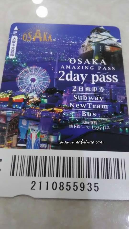 bercuti di osaka guna osaka amazing pass