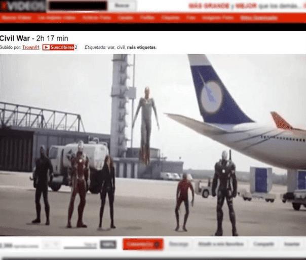 Suben película de Capitán América a página para adultos