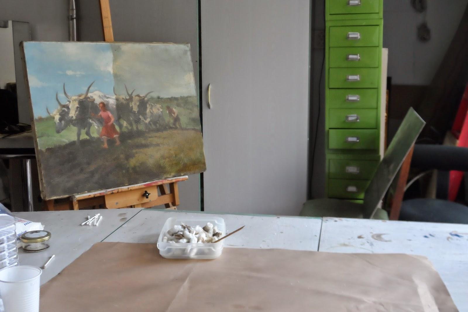Festmény restaurálás, tisztítás az Ecsetvonás restaurátor műhelyben