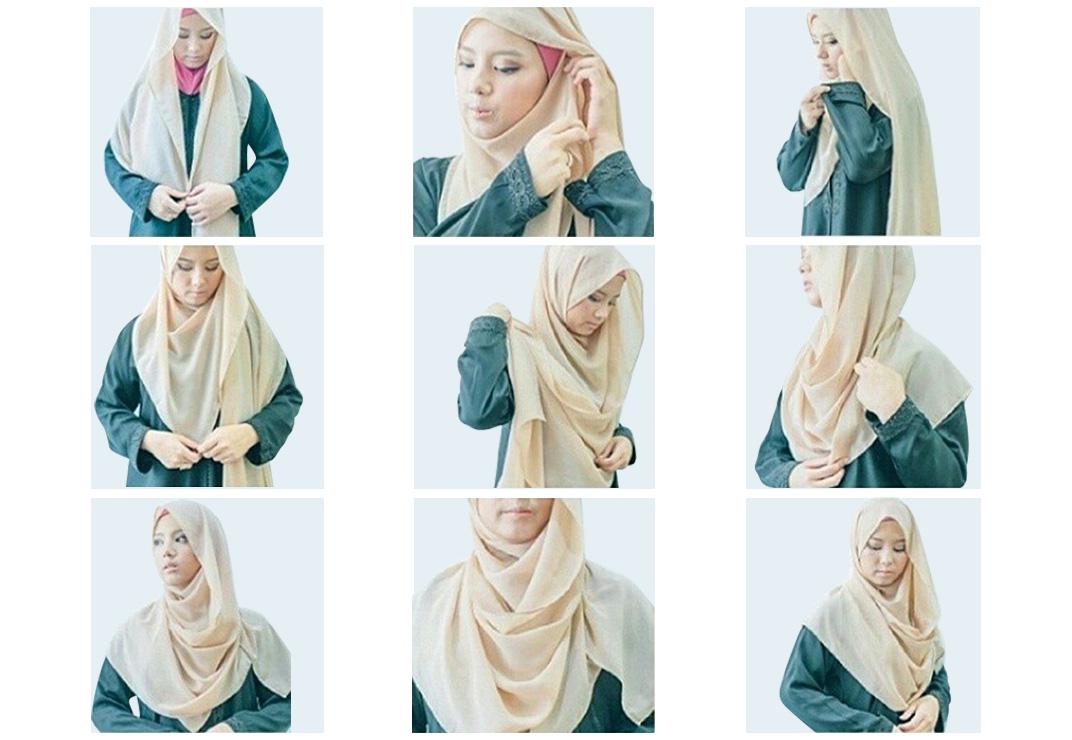 17 Tutorial Hijab Segi Empat Simpel Dan Syari Gaya Modern