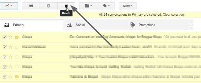 step 3 to delete all email in gmail inbox