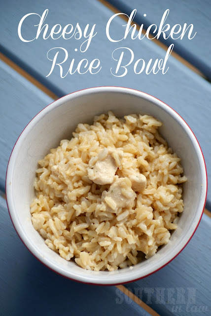 Low Fat Healthy Cheesy Chicken Rice Bowl