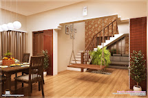 Kerala House Staircase Design