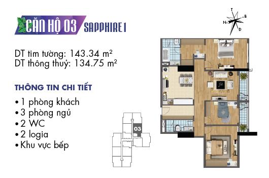 căn hộ 03 sapphire 1