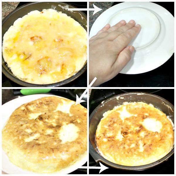 Receta de tortilla de patatas con cebolla, paso a paso y con fotografías