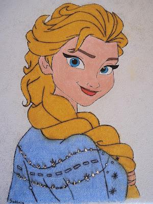 Elsa φωτιζόμενος καμβάς