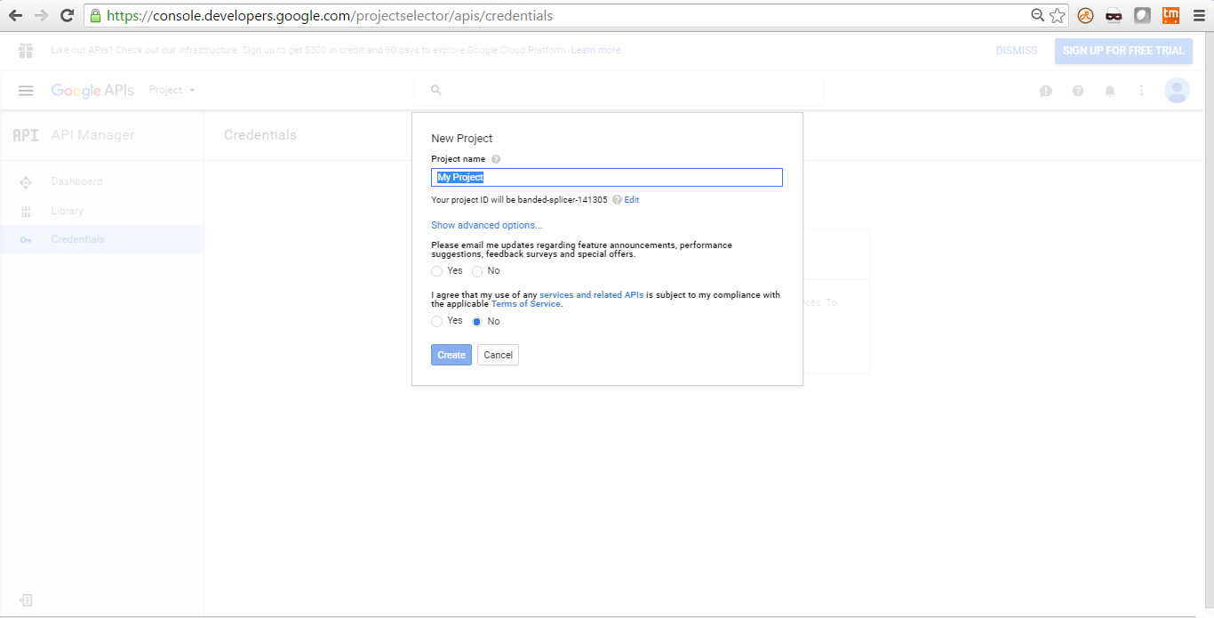 Google API to authenticate on website using JavaScript