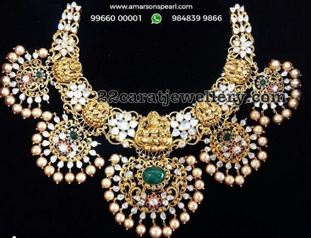 Laxmi Necklace by Amarsons Pearl jewellers