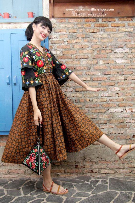 41 Koleksi Model Rok Batik Pendek Panjang Modern Muslim Pesta