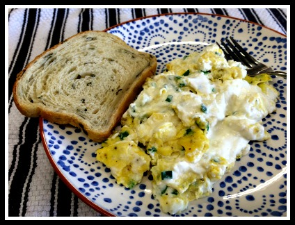 Soft Scrambled Eggs with Ricotta Cheese and Chives