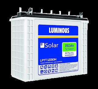 Luminous LPTT12150H 150Ah Solar Tall Tubular Battery