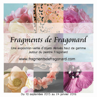 """Exposition """"Fragments de Fragonard"""", Galerie de la Marraine, produits dérivés haut de gamme inspirés par l'univers du peintre"""